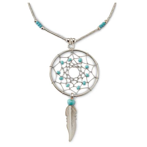 sterling silver for jewelry sterling silver turquoise dreamcatcher necklace 616783