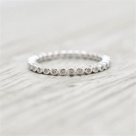 Petite Bezel Set Diamond Eternity Band in White