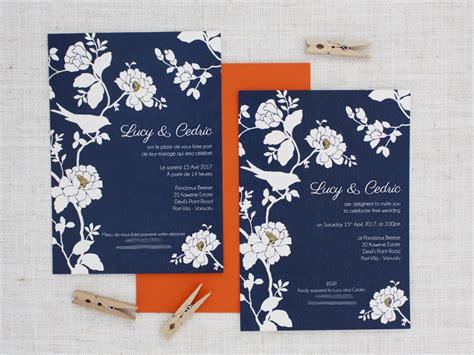 navy blue and gold wedding invitations navy blue gold and white roses and bird wedding
