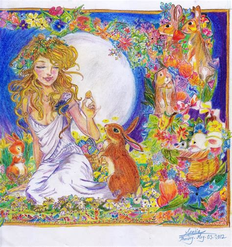 goddess easter goddess eostre by ginqueeen