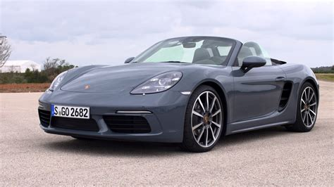 porsche graphite blue interior 2017 porsche 718 boxster graphite blue metallic youtube