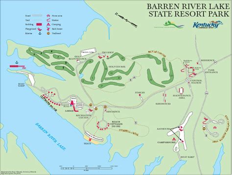 kentucky lake map pdf barren river lake state resort park map lucas ky mappery