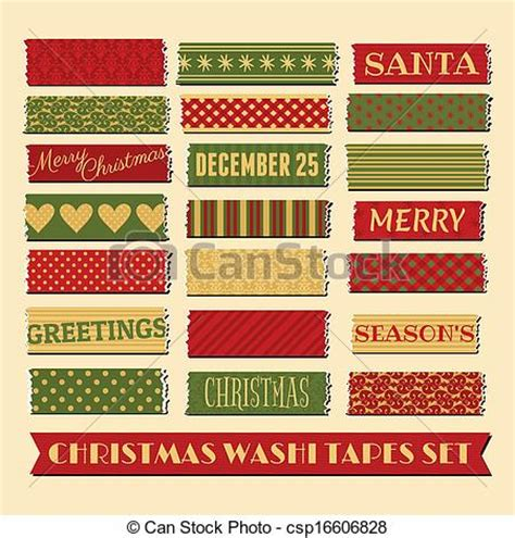 australian pattern tape christmas washi tapes collection a set of strips of