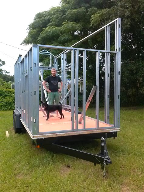 metal tiny house steel framing erin rob build a tiny house