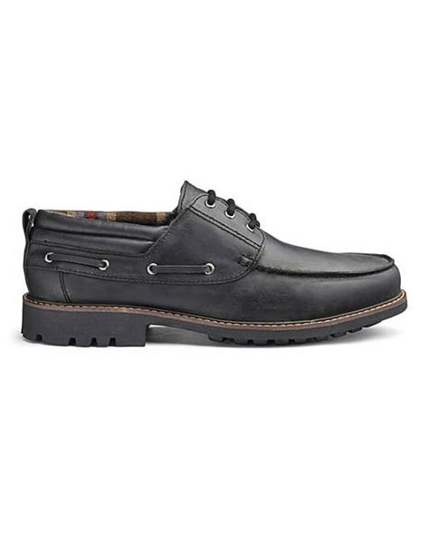 boat shoes fit leather cleated boat shoes standard fit jacamo