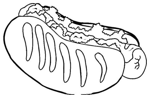 coloring pages of hot dogs hotdog free colouring pages