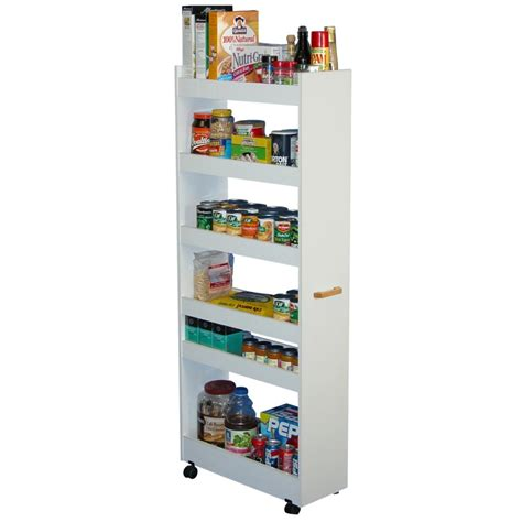 Portable Pantries by Trendy Two Sided Portable Pantry Closet On Black Wheels