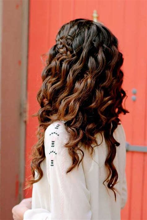 Hairstyles With Loose Curls And Braids | 25 brunette hairstyles 2015 2016 hairstyles