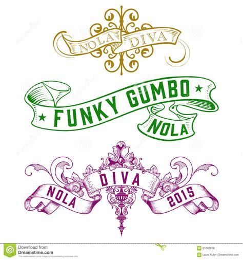 art design new orleans magazine nola diva funky gumbo new orleans designs stock