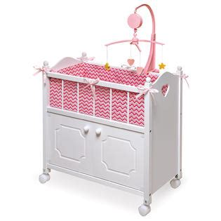 Badger Basket Doll Crib With Cabinet by Badger Basket Doll Crib With Cabinet Bedding Mobile