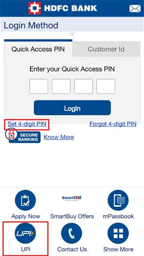 hdfc bank mobile banking hdfc upi app easy money transfer payments of india