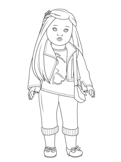 coloring pages of american girl doll saige american girl doll coloring pages 25 image collections