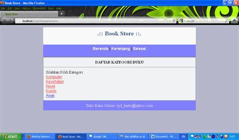 membuat online shop php membuat shopping chart toko buku online desktop labsore