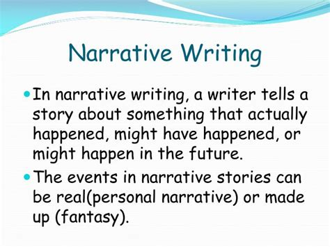 Writing A Narrative Essay Powerpoint ppt what is narrative writing powerpoint presentation id 2659979