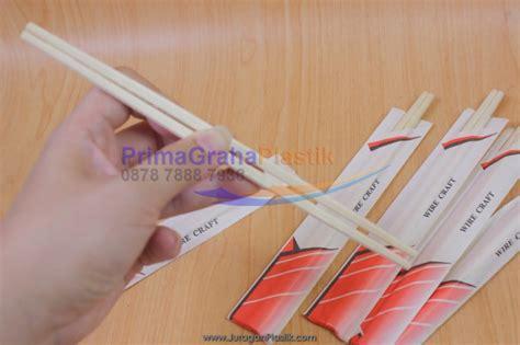 Sumpit Plastik Higienis 1x Pakai sumpit bambu half paper cover hygienis ala hokben stock ready home