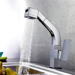 kitchen faucets high end high end square shaped pullout rotatable kitchen faucet