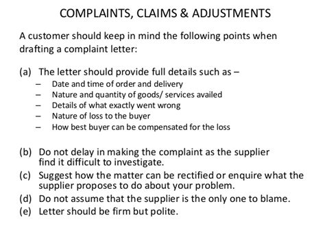 Complaint Letter Wrong Delivery Important Business Letters