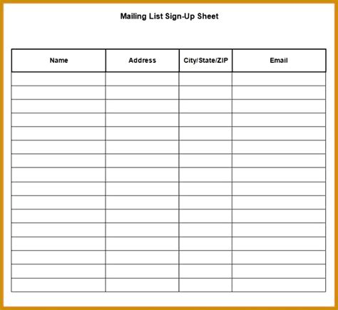 seminar sign up sheet template 5 seminar sign up sheet template fabtemplatez