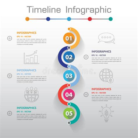 numbers timeline template shadow design clean number timeline template graphic
