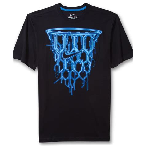 Tshirt Nrt lyst nike basketball net graphic tshirt in blue for