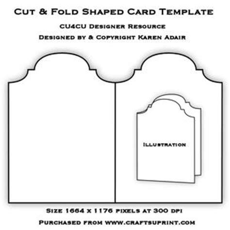 top fold card template scallop top tri fold cascade card template cup234951 168