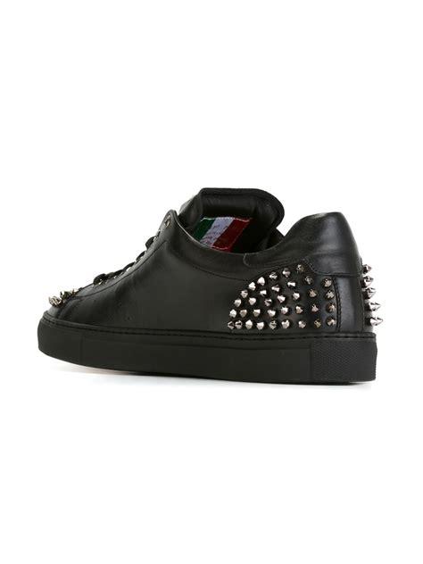 open sneakers philipp plein open sneakers in black lyst