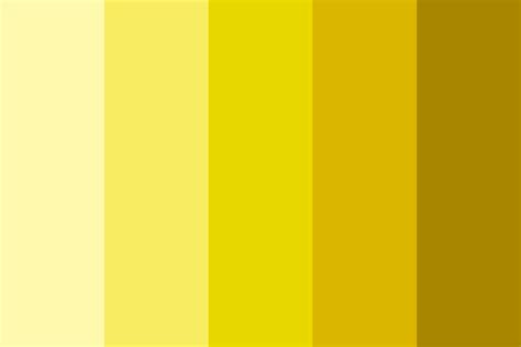 shades of yellow color palette
