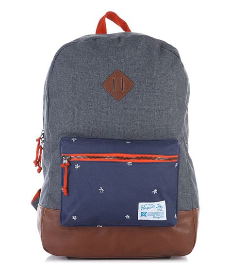 Visval Zoom Backpack Grey Original original penguin grey backpack buy original penguin grey backpack at low price snapdeal
