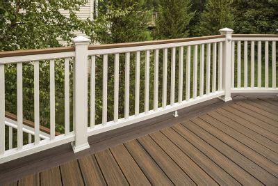 Staining Stair Banister Trex Transcend 174 Composite Deck Railing Trex