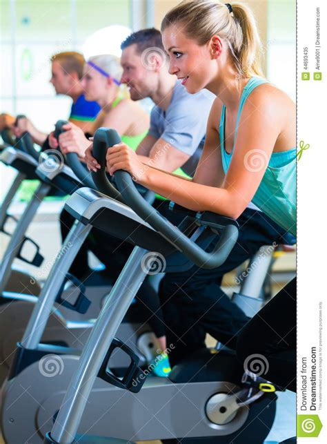 Spinning Bike Sport Id 9 2n in spinning on sport bicycle stock image image