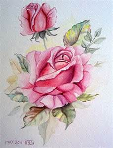 red roses watercolor painting zeinab1361art