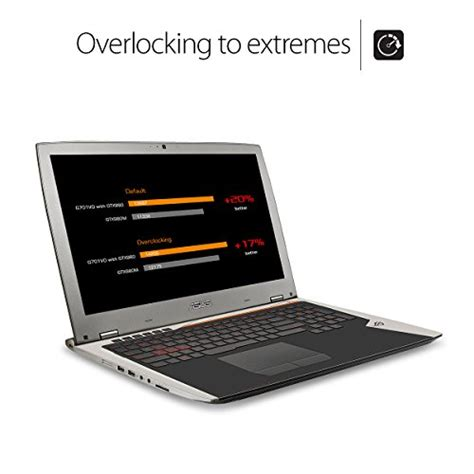 Asus Gaming Laptop With Windows 10 asus rog g701vi xb78k 17 3 inch gaming laptop intel i7 6820hk 64gb sdram 2x512gb ssd