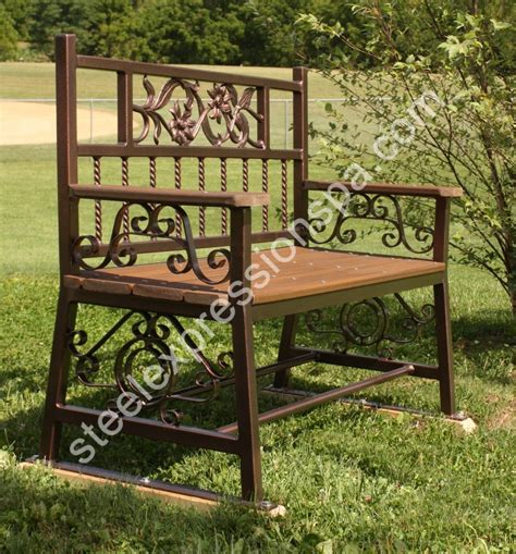 personalized park bench memorial park benches steel expressions lancaster