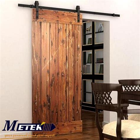 Home Hardware Doors Interior by 6 6 Ft Carbon Steel Interior Wood Sliding Barn Door
