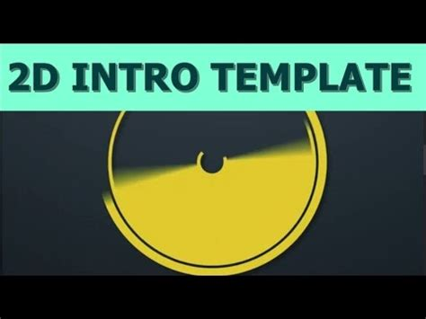 Free 2d Intro Template After Effects Cs6 2d Intro Template Abstract 2 No Plugins Required 2d Intro Template After Effects