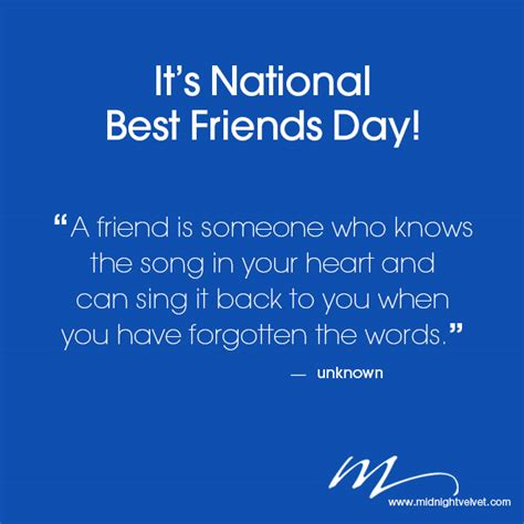 day best friend quotes quotes of the week best friends day midnight velvet