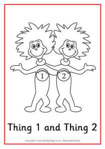 Thing 1 and thing 2 colouring page 460 1 jpg