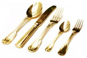 Wholesale Bathroom Vanity Gold Plated Cutlery Set Contemporary Flatware And
