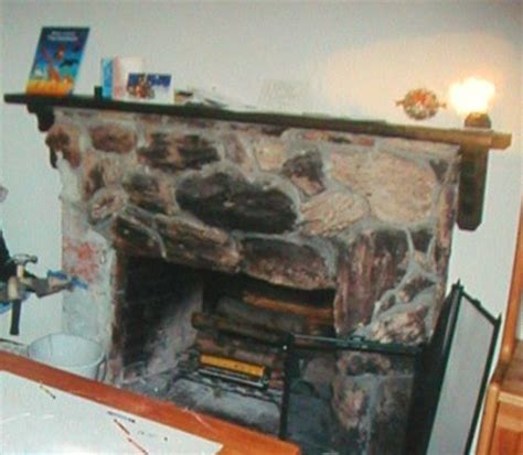 remodeling of lava rock fireplace fireplace remodel