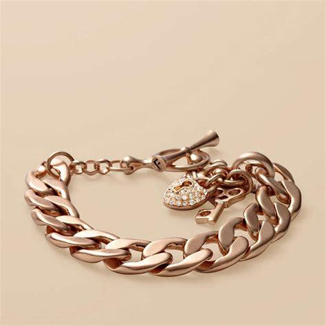 link charm bracelet fossil