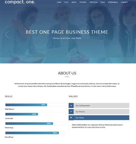 tutorial one page website wordpress compact one power packed free one page wordpress theme