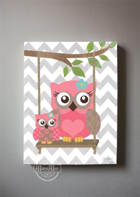 Baby Owl Decor by Owl Decor Wall Owl Canvas Baby Nursery
