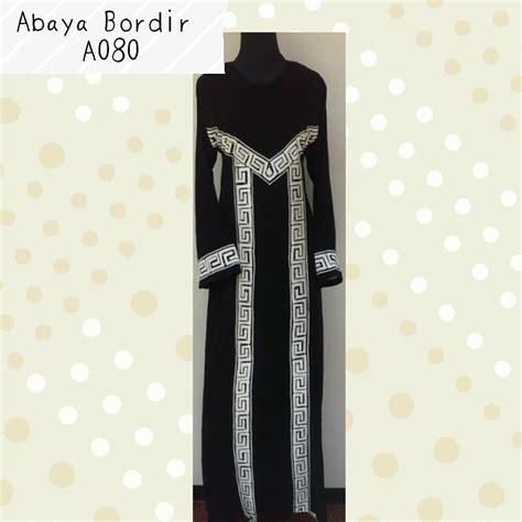 Baju Gamis Abaya Saudi Bordir abaya bordir kode a080 bajuindia bajuindia