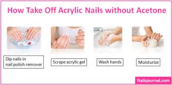 how to remove acrylic nails at home how to take acrylic nails without acetone nails journal