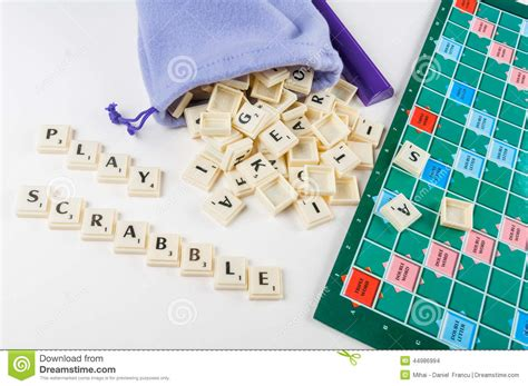 play with scrabble tiles play scrabble editorial stock image image 44986994
