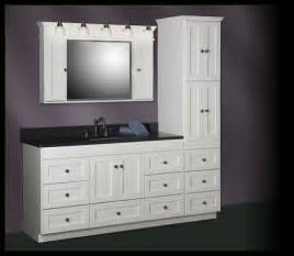 Raised Bathroom Sink Strasser Shaker 60 Quot Vanity With Linen Tower Ideas For
