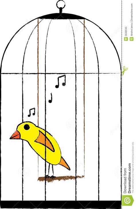 canarino in gabbia uccello messo in gabbia fotografia stock libera da diritti