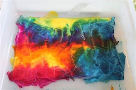 Tie Dye Paper Craft - tie dye tissue crafts quot tissue paper diy quot