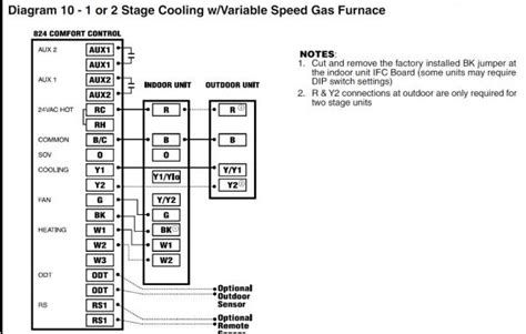 trane heat air thermostat wiring diagram trane free