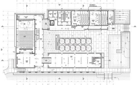 lecture hall floor plan kemper smith bennie g thompson academic center tougaloo